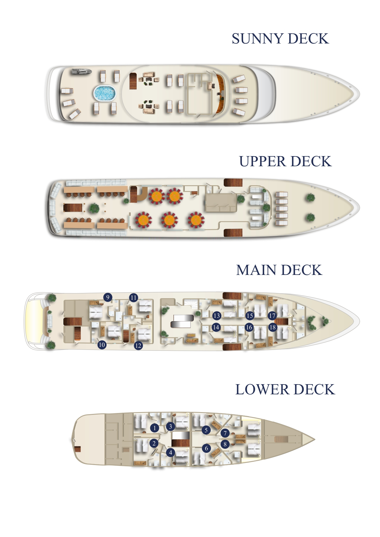 MS Sea Swallow Deck Plan