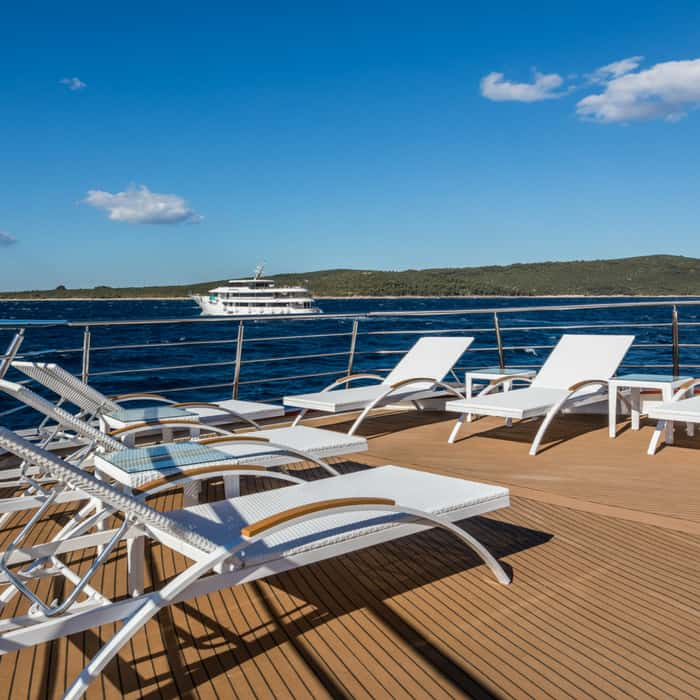 MV Adriatic Sun sun deck with chairs