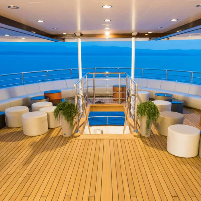 MV Avangard shaded deck