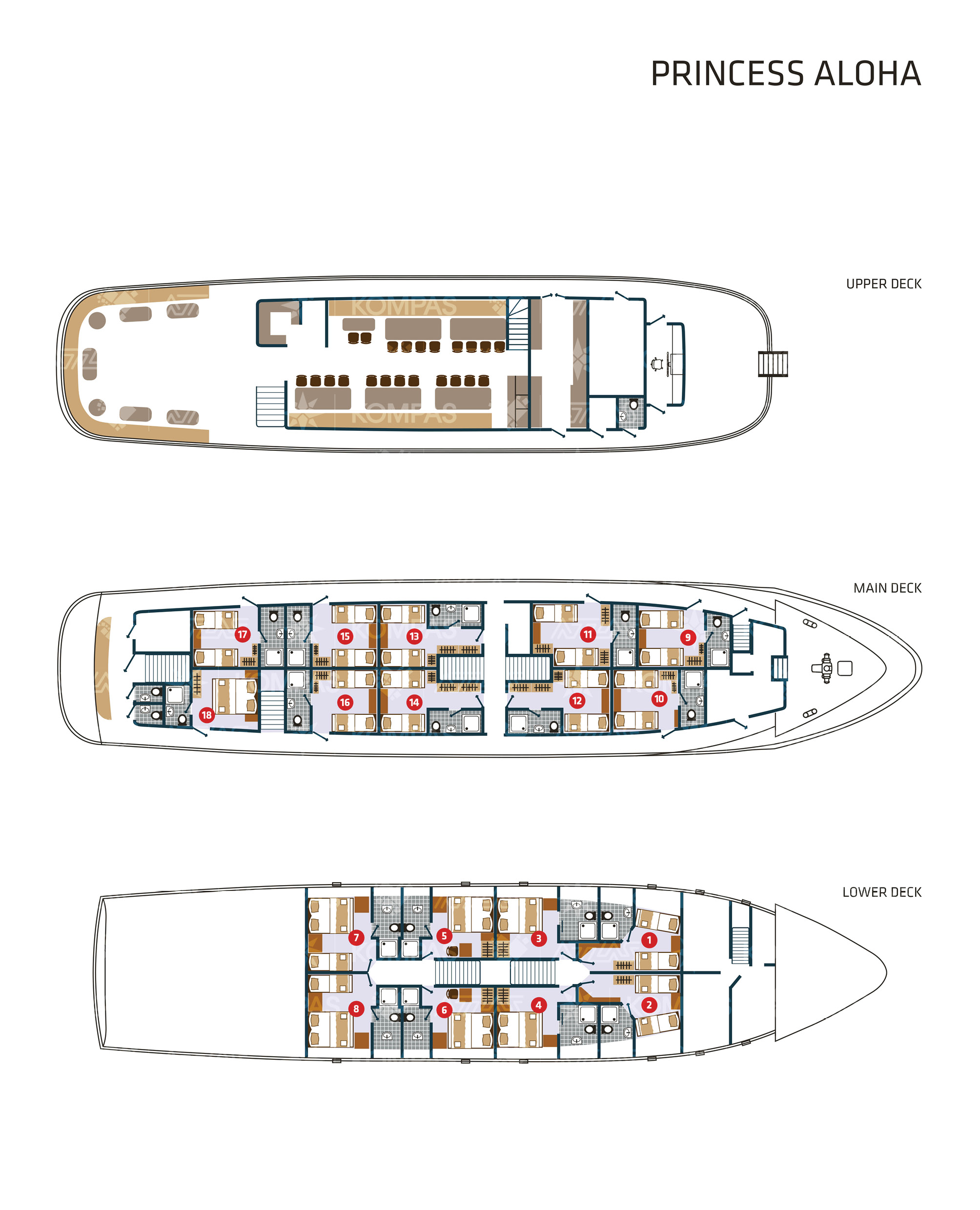 Princess Aloha Deck Plan