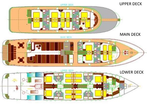 MS Spalato deck plan