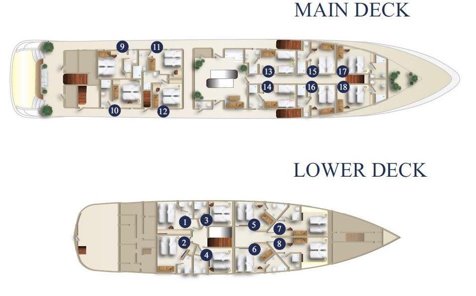 MS Sea Swallow deck plan