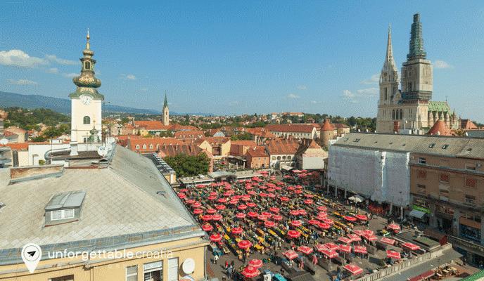 Dolac market, Unforgettable Croatia, Zagreb