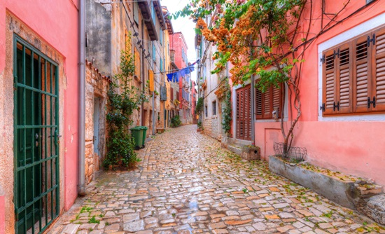 Colourful Street in Rovinj