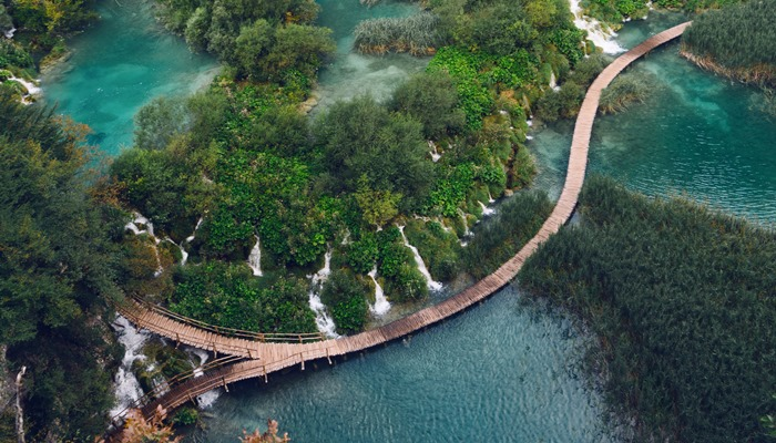 Plitvice lakes walking route