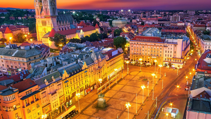 Zagreb at night, Croatia