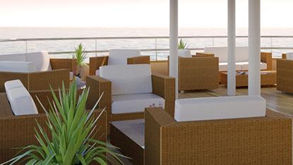 MS Bellissima ship lounge area