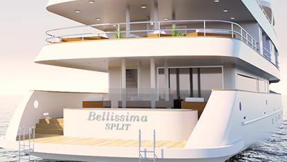 MS Bellissima swimming platform, Unforgettable Croatia