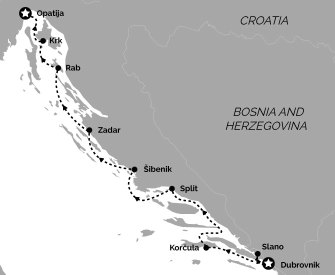 Signature Dubrovnik to Opatija Croatia Cruise