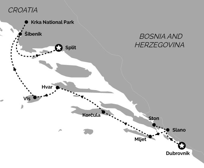 Signature Dubrovnik to Split Croatia Cruise