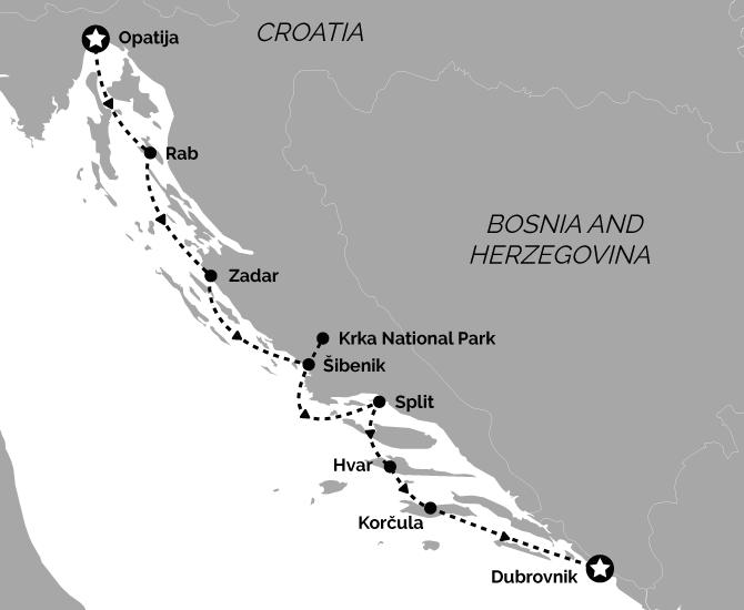 Signature Opatija to Dubrovnik Croatia Cruise