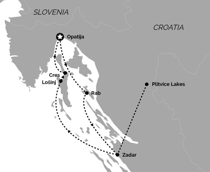 Signature Opatija Return Croatia Cruise