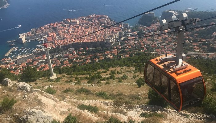 Dubrovnik cable car, Croatia, Unforgettable Croatia, Dubrovnik