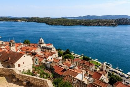 Aerial view of Sibenik