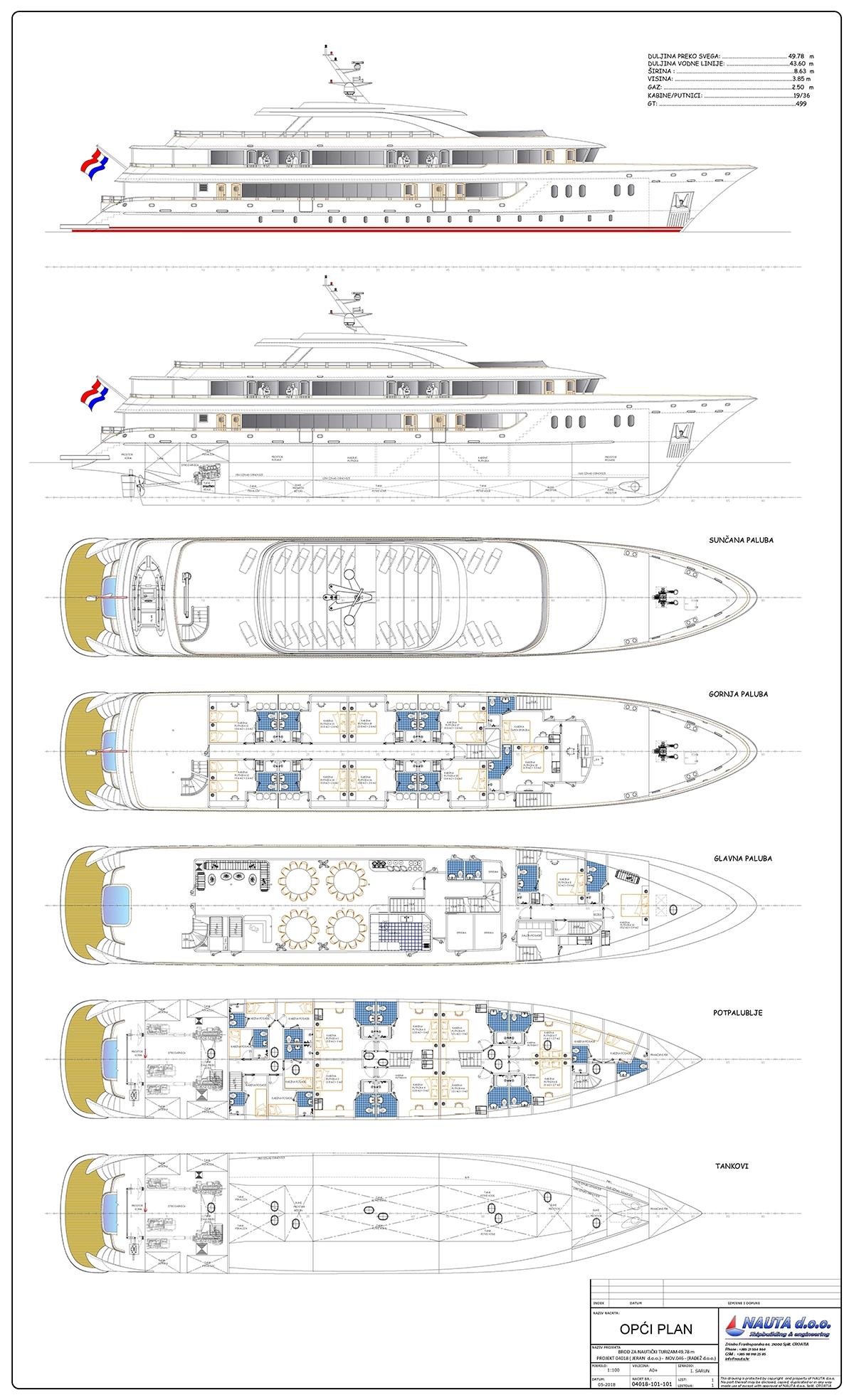 Aurelia deck plan