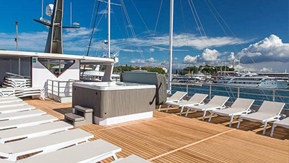MV Ave Maria, sun deck