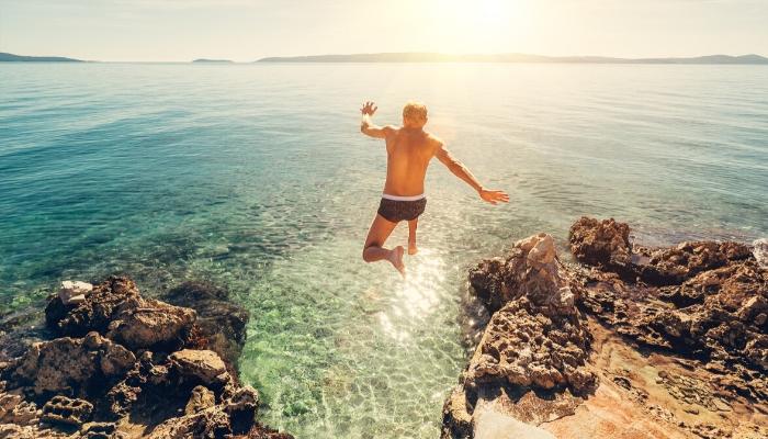 Unforgettable Croatia, swimming in Croatian sea