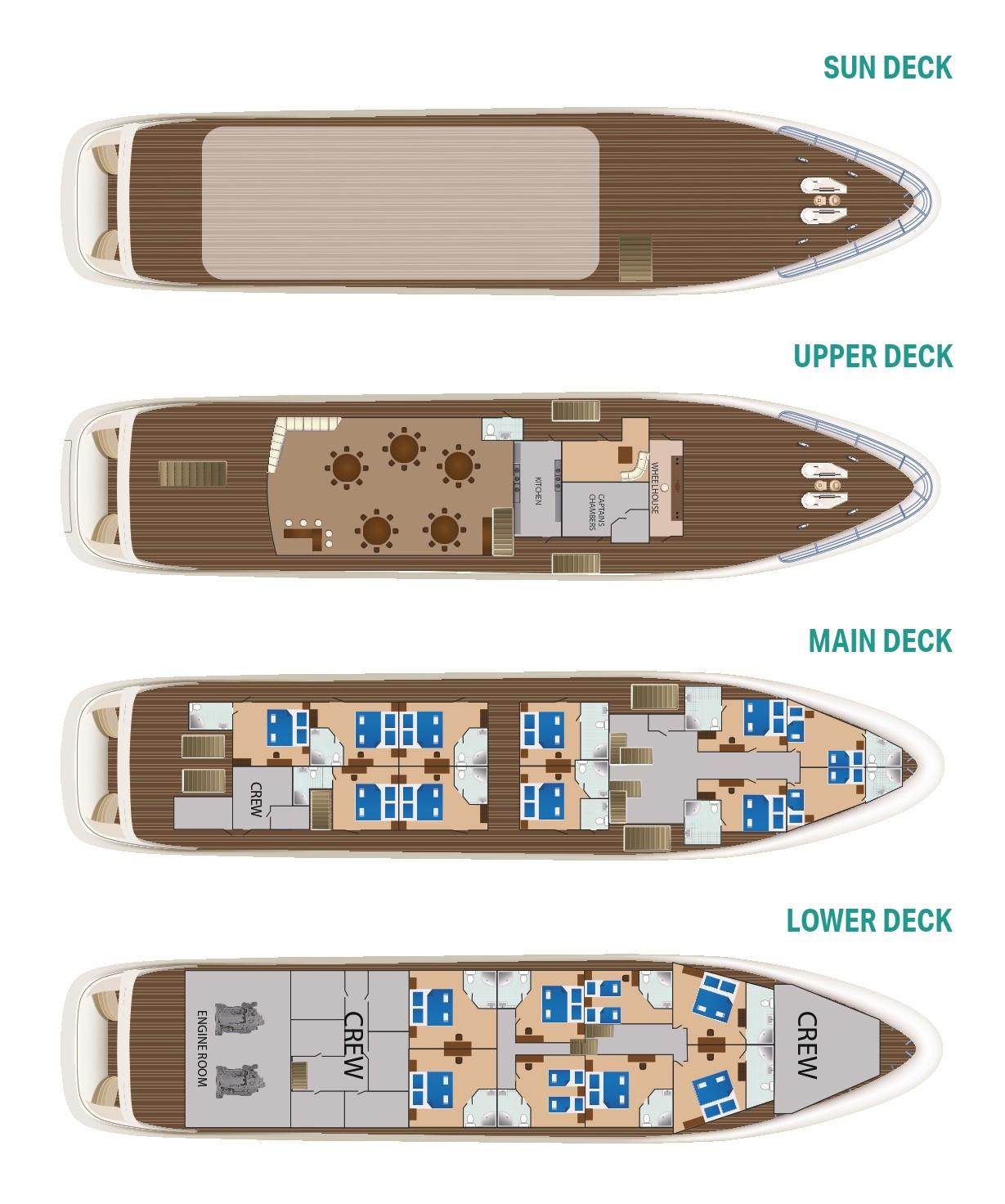 MS Cristal Deck Plan