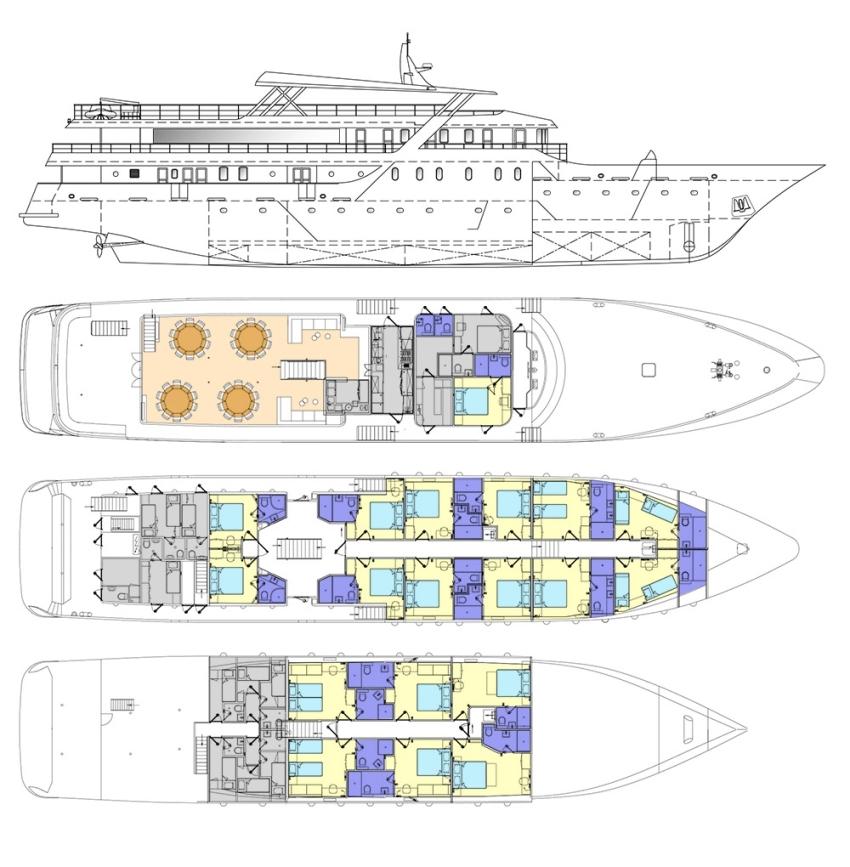 MS Nautilus Deck Plan