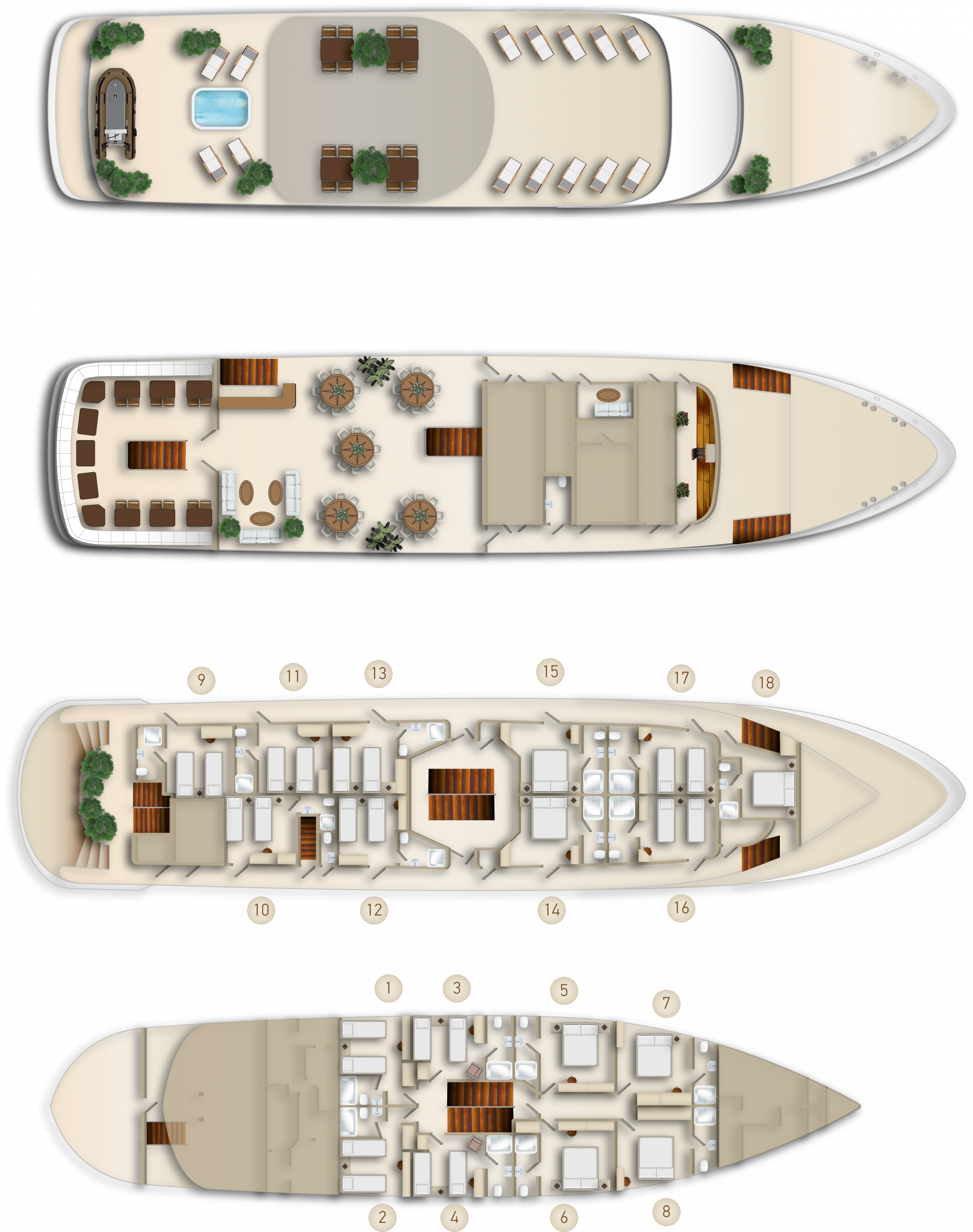 MS Invictus, deck plan