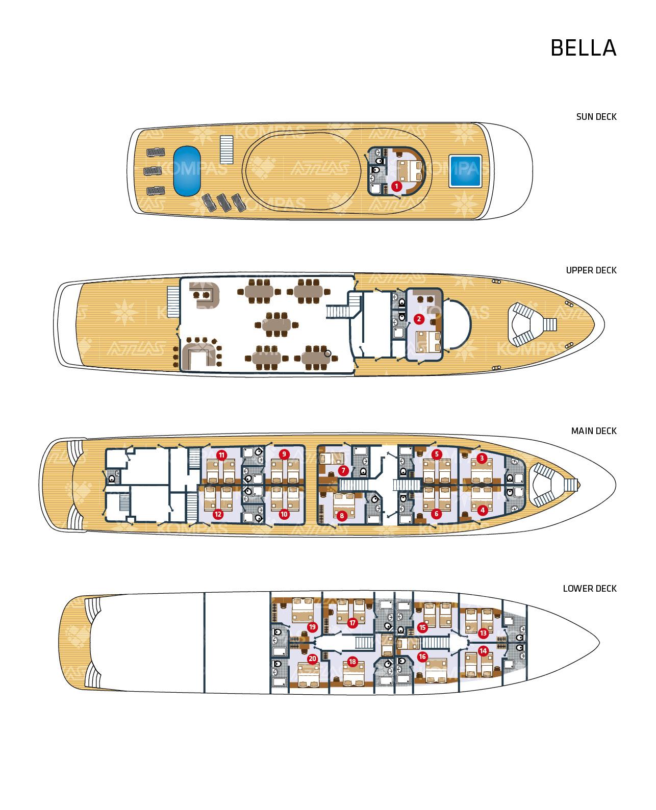 MS Bella Deck Plan