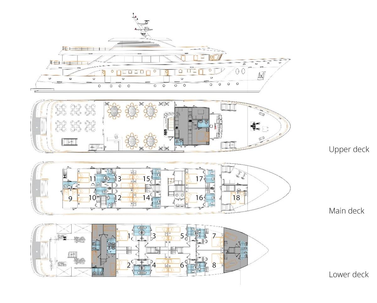 MV Katarina Deck Plan